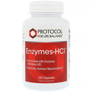 Протокол Фор Лифе Балансе, Enzymes-HCI, 120 Capsules отзывы покупателей