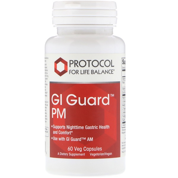 Protocol for Life Balance, GI Guard PM، 60 كبسولة نباتية