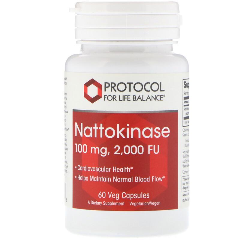 Nattokinase, 100 mg, 60 Veg Capsules