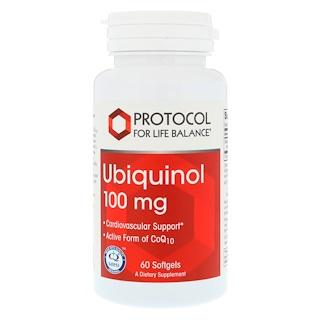 Protocol for Life Balance, Ubiquinol, 100 mg , 60 Softgels