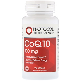 Protocol for Life Balance, CoQ10, 100 mg, 90 Softgels