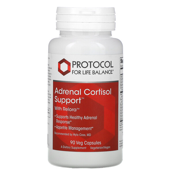 Protocol for Life Balance, Adrenal Cortisol Support 腎上腺皮質醇支持,含 Relora,90 粒素食膠囊