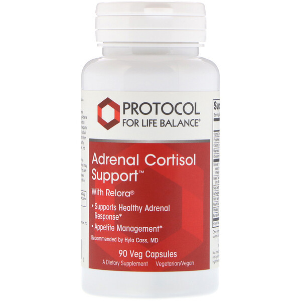 Protocol for Life Balance, Adrenal Cortisol Support, 90 Veg Capsules
