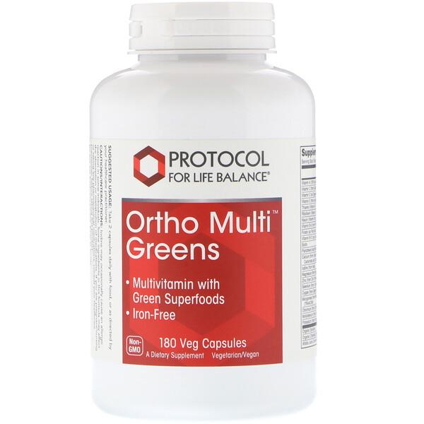Protocol for Life Balance, 綠葉蔬菜綜合維生素,180 粒素食膠囊