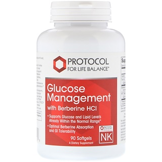 Protocol for Life Balance, Glucose Management with Berberine HCL, 90 Softgels