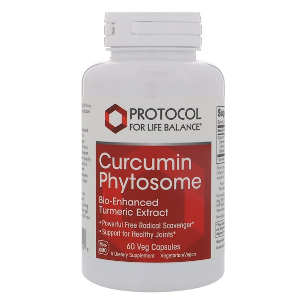 Protocol for Life Balance, Curcumin Phytosome, 60 Veg Capsules (Discontinued Item)