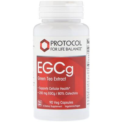 Protocol for Life Balance EGCg Green Tea Extract, 90 Veg Capsules