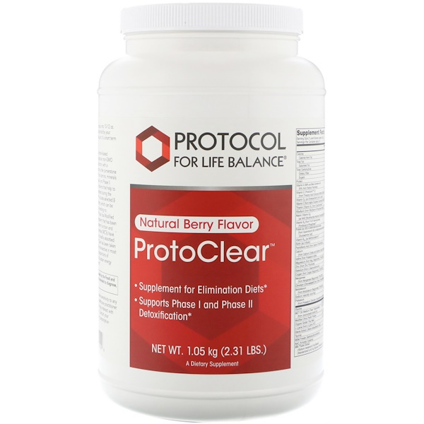 Protocol for Life Balance, ProtoClear, Natural Berry Flavor, 2.31 lbs (1.05 kg)
