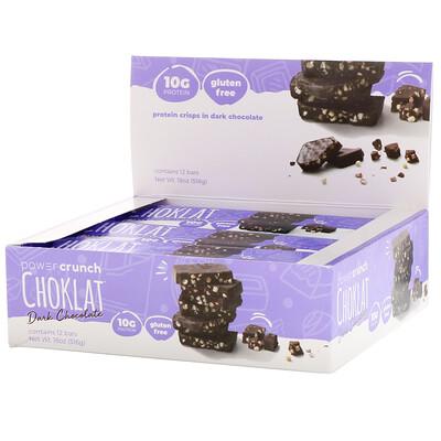 цены Power Crunch протеиновый энергетический батончик со вкусом темного шоколада, 12 шт. по 43 г