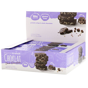 БНРГ, Power Crunch Protein Energy Bar, Choklat, Dark Chocolate, 12 Bars, 1.54 oz (43 g) Each отзывы
