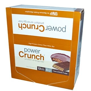 BNRG, Power Crunch Protein Energy Bar, Peanut Butter Fudge, 12 Bars, 1.4 oz (40 g) Each