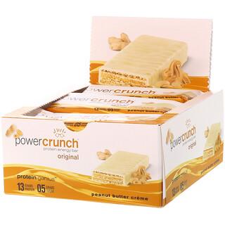 BNRG, Протеиновый энергетический батончик Power Crunch, оригинальный, арахисовое масло, 12 батончиков, 1,4 унц. (40 г) каждый