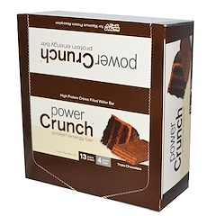 BNRG, Power Crunch Protein Energy Bar Original, Triple Chocolate, 12 Bars, 1.4 oz (40 g) Each