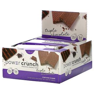BNRG, Power Crunch Protein Energy Bar, Triple Chocolate, 12 Bars, 1.4 oz (40 g) Each