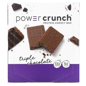 БНРГ, Power Crunch Protein Energy Bar, Triple Chocolate, 12 Bars, 1.4 oz (40 g) Each отзывы