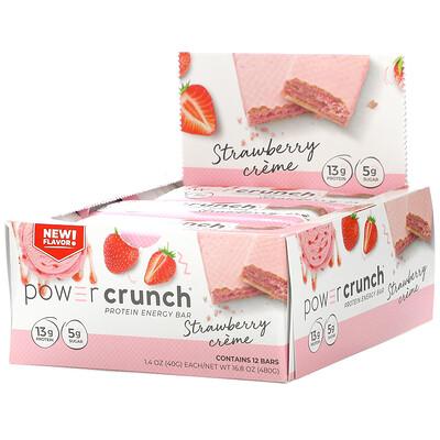 Купить BNRG Power Crunch Protein Energy Bar, Strawberry Creme, 12 Bars, 1.4 oz (40 g) Each