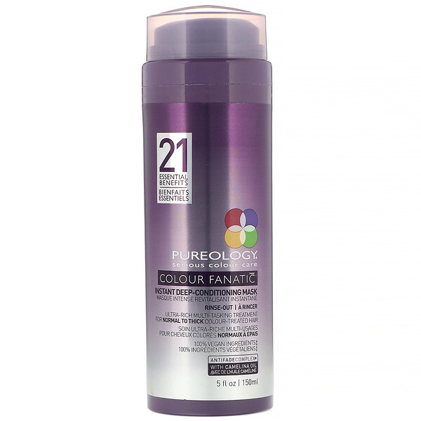 Pureology, Colour Fanatic  Instant Deep Conditioning Mask, 5 fl oz (150 ml) (Discontinued Item)