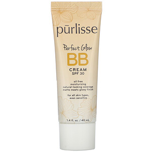 Purlisse, Perfect Glow, BB Cream, SPF 30, Medium, 1.4 fl oz (40 ml)