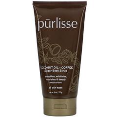 Purlisse, 椰子油 + 咖啡,糖身體磨沙膏,6 盎司(170 克)