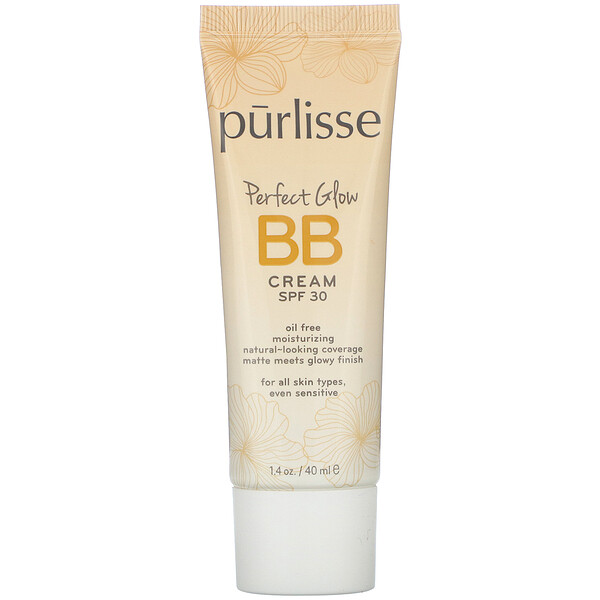 Purlisse, Perfect Glow, BB Cream, SPF 30, Light Medium, 1.4 fl oz (40 ml)