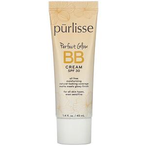 Purlisse, Perfect Glow, BB Cream, SPF 30, Medium Tan, 1.4 fl oz (40 ml)