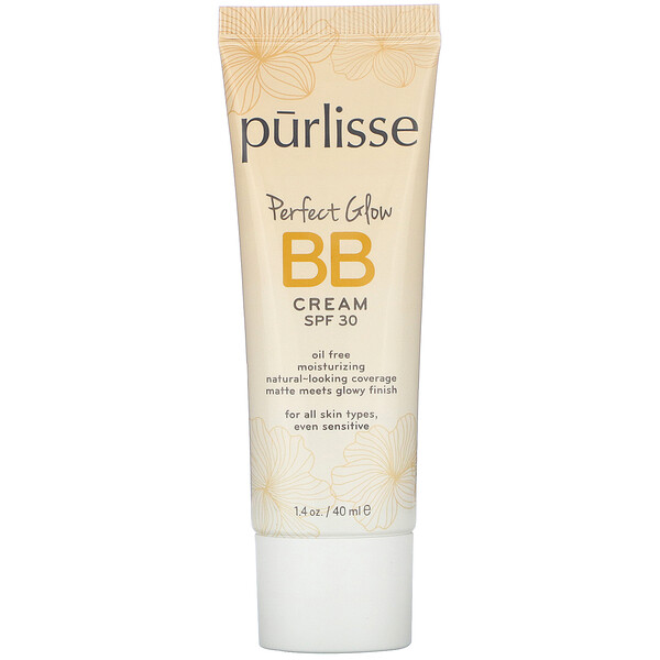 Purlisse, Perfect Glow, BB Cream, SPF 30, Tan Deep, 1.4 fl oz (40 ml)
