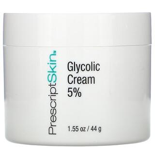 PrescriptSkin, Glycolic Acid Cream 5%, Creme mit Glycolsäure 5%, 44g (1,55oz.)