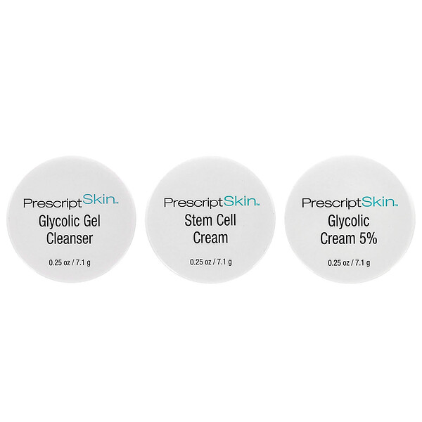Glycolic Trial Set, 3 Jars, 0.25 oz Each