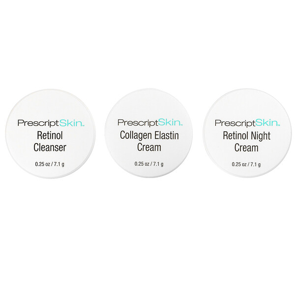 Retinol Trial Set, 3 Professional Strength Anti-Aging Products, 3 Jars, 0.25 oz (7.1 g) Each