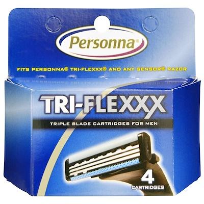 Personna Razor Blades Tri-Flexxx,男士三重刀片剃須,4 個刀片盒