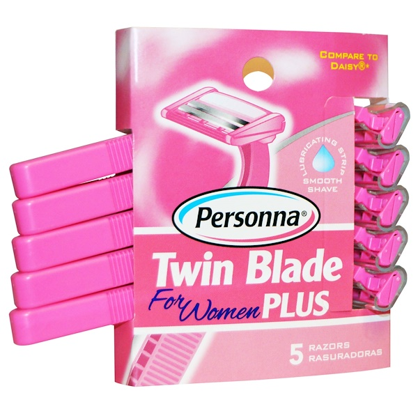 Personna Razor Blades, Twin Blade Plus, for Women, 5 Razors (Discontinued Item)