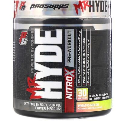 Купить ProSupps Mr.Hyde, NitroX, предтренировочный комплекс со вкусом арбуза, 222г (7, 8унции)