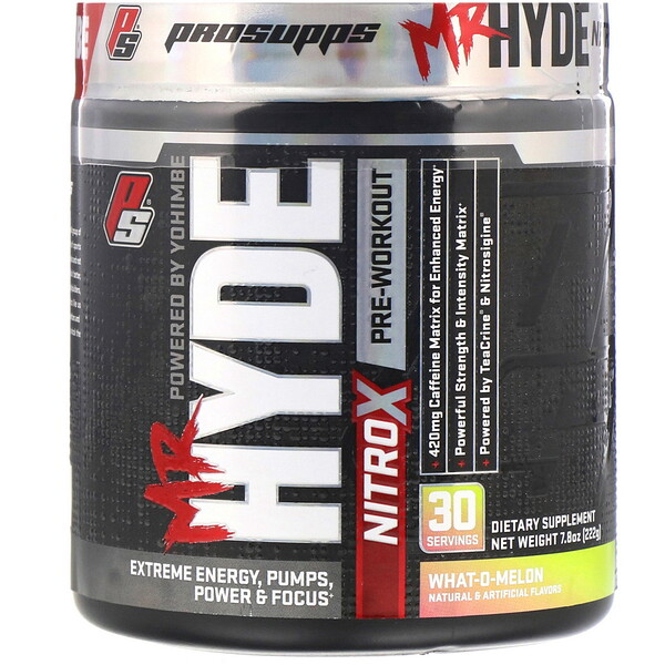 Mr. Hyde, Nitro X, Pre Workout, What-O-Melon, 7.8 oz (222 g)