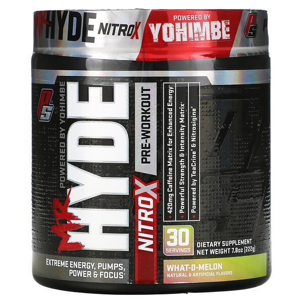 ProSupps, Mr. Hyde، Nitro X، لما قبل التمرين، What-O-Melon، 7.8 أونصة (222 جم)