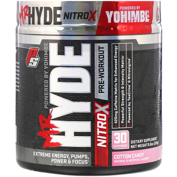 Mr. Hyde, Nitro X, Pre Workout, Cotton Candy, 8.0 oz (228 g)