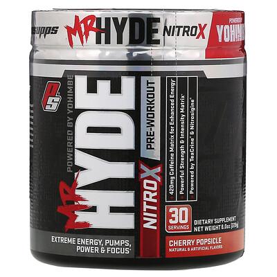 Купить ProSupps Mr.Hyde, NitroX, предтренировочный комплекс со вкусом вишневого мороженого, 228г (8, 0унций)