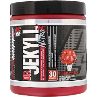 ProSupps, Dr. Jekyll, Nitro X, Intense Pump Pre Workout, Lollipop Punch, 10.5 oz (297 g)
