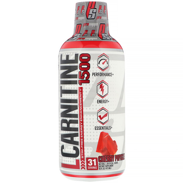 ProSupps, L-Carnitine 1500, Cherry Popsicle, 1,500 mg, 16 fl oz (473 ml)