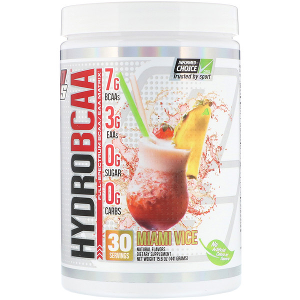 ProSupps, Hydro BCAA, sabor a Miami Vice, 15,6 oz (441 g) (Discontinued Item)