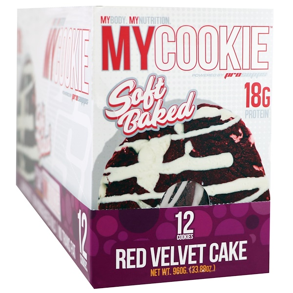 ProSupps, My Cookie, Red Velvet Cake, 12 Cookies, 2.82 oz (80 g) Each (Discontinued Item)