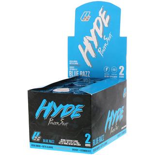 ProSupps, Hyde Power Shot, Blue Razz, 172 mg, 12 Bottles, 2.5 fl oz (74 ml) Each