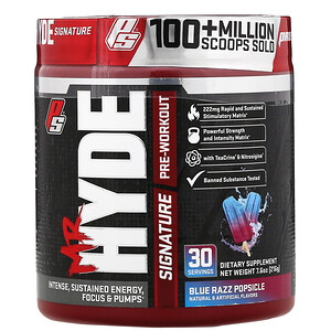 ПроСаппс, Mr. Hyde, Signature Pre Workout, Blue Razz Popsicle, 7.6 oz (216 g) отзывы