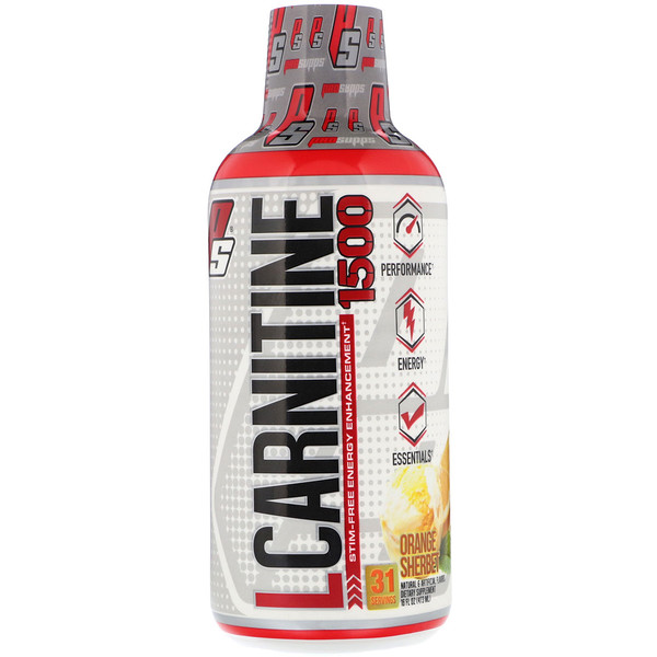 L-Carnitine 1500, Orange Sherbet, 1,500 mg, 16 fl oz (473 ml)
