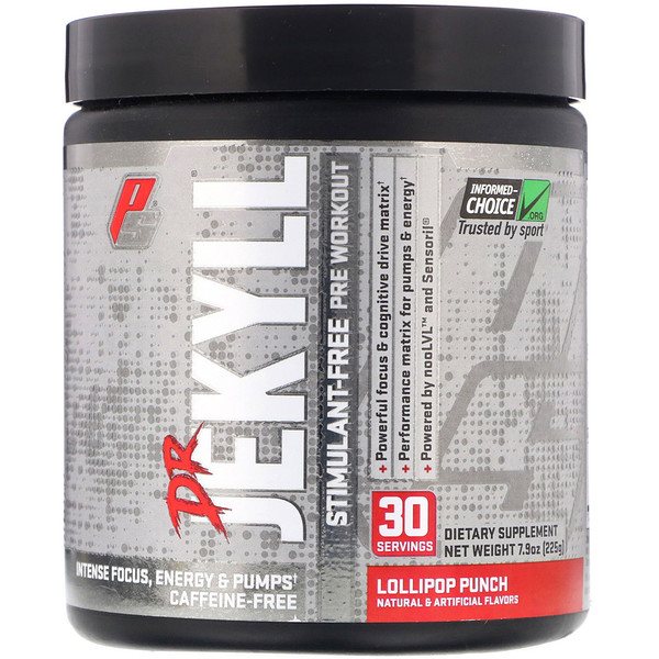 Dr Jekyll, Stimulant-Free Pre-Workout, Lollipop Punch, 7.9 oz (225 g)