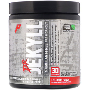 ProSupps, Dr Jekyll, Stimulant-Free Pre-Workout, Lollipop Punch, 7.9 oz (225 g)