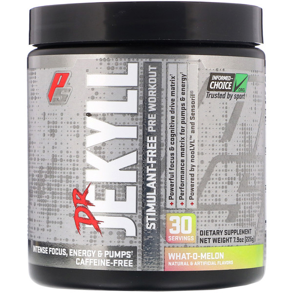 Dr Jekyll, Stimulant-Free Pre-Workout, What-o-Melon, 7.9 oz (225 g)