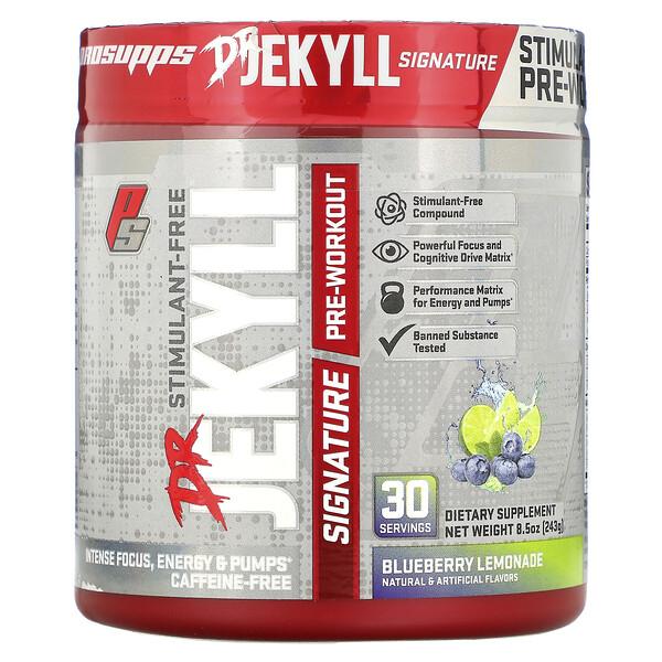 Dr. Jekyll Signature, Stimulant-Free Pre-Workout, Blueberry Lemonade, 8.5 oz (243 g)