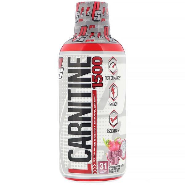 L-Carnitine 1500, Dragonfruit, 1,500 mg, 16 fl oz (473 ml)