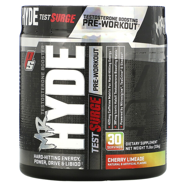 Mr. Hyde, Test Surge, Testosterone Boosting Pre-Workout, Cherry Limeade, 11.8 oz (336 g)