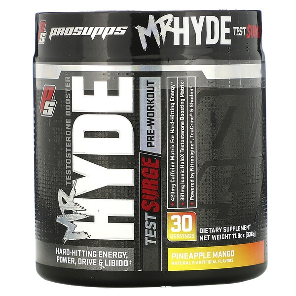 Mr. Hyde, Test Surge, Testosterone Boosting Pre-Workout, Pineapple Mango, 11.8 oz (336 g)